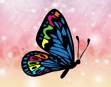 Coloring page Butterfly with normal wings painted byGramanana4