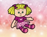 Coloring page Doll Toy painted byGramanana4