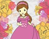 Coloring page Elegant Princess painted byAnia