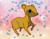 Coloring page Little fawn painted byGramanana4