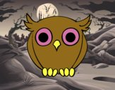 Coloring page Night Owl  painted byGramanana4