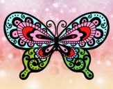 Coloring page Pretty Butterfly painted byGramanana4