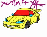 Coloring page Sports car with aileron painted byGramanana4