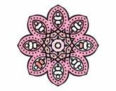 Coloring page Arabian mandala painted bymindy