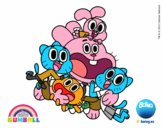 Gumball and happy friends