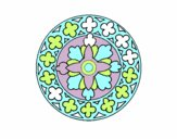 Coloring page Mandala 21 painted bymindy