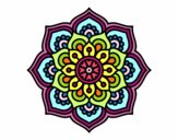 Mandala concentration flower