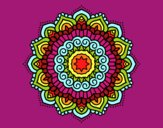 Coloring page Mandala decorated star painted byCandice