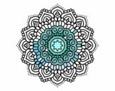 Coloring page Mandala decorated star painted bymindy