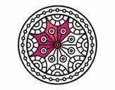 Coloring page Mandala mental balance painted bymindy