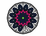 Coloring page Mandala of nature painted bymindy