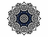 Coloring page Mandala to relax painted bymindy
