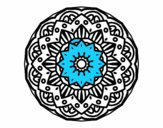 Coloring page Modernist mandala painted bymindy