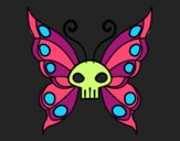 Coloring page Emo butterfly painted byBrandi