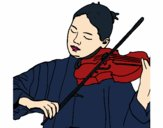 Coloring page Violinist painted byGhada
