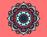 Coloring page Mandala to relax painted bybianca
