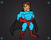 Muscular superhero