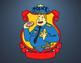 Police with donut