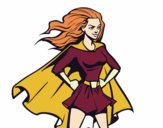 Coloring page Super girl painted byiFaith