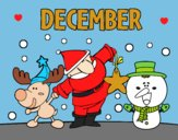 Coloring page December painted byAnia