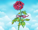 Coloring page A rose painted byALAN