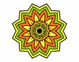 Coloring page Flower mandala of sunflower painted byPasserby42