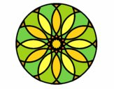 Coloring page Mandala 38 painted byPasserby42