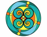 Coloring page Mandala 5 painted byPasserby42