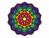 Coloring page Mandala flower petals painted byPasserby42