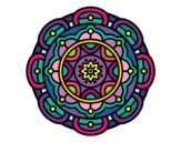 Coloring page Mandala for mental relaxation painted byPasserby42