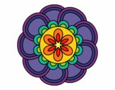 Coloring page Mandala petals painted byPasserby42