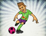 Coloring page Forward Football painted bystevens
