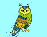 Coloring page Winter Barn owl painted byspend9556