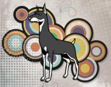 Coloring page Doberman dog painted byDANO