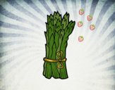 Coloring page Green asparagus painted bycecy
