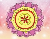 Coloring page Happy mandala painted byAnia