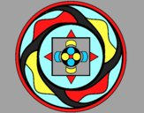 Coloring page Mandala 7a painted byAnia