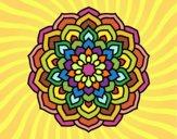 Coloring page Mandala flower petals painted byIrene