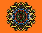 Coloring page Mandala for mental concentration painted byIrene