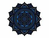Coloring page Mandala greek mosaic painted byMegg