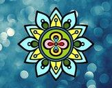 Mandala lotus flower