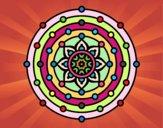 Coloring page Mandala solar system painted byIrene