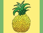 Coloring page pineapple painted byMegg