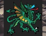 Coloring page Aggressive dragon painted byrabid
