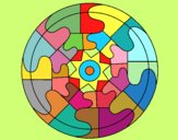 Coloring page Mandala 31 painted byAnia