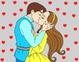 Coloring page Kiss of love painted byAnia