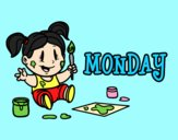 Coloring page Monday painted byAnia