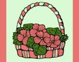 Coloring page Basket of flowers 6 painted byCherokeeGl