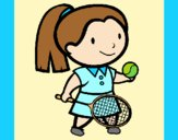 Coloring page Female tennis player painted byAnia