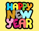 Coloring page Happy new year painted byAnia